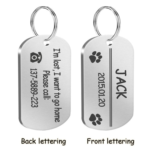 METAL MILITARY DOG ID TAG