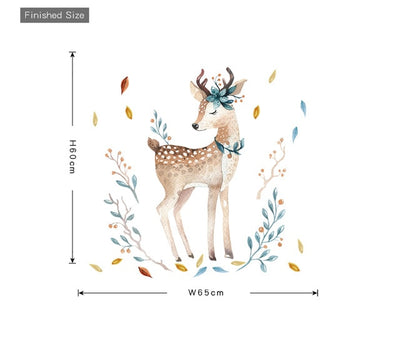 DEER WALL STICKER FOR KIDS LIVING ROOMS