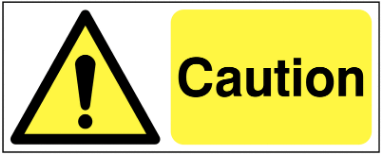 Yellow Or Amber Safety Signs