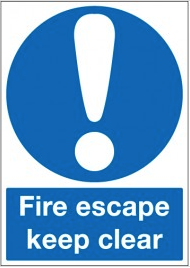Health and Safety 'Fire Escape Keep Clear' Signs SSW0295