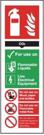 Colour-Coded Fire Extinguisher Signs - CO2 SSW0299