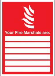 Fire Marshal Identifier Signs