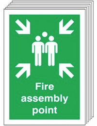 Fire Assembly Point Signs - 6 Pack SSW0332