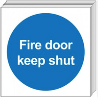 Fire Door Keep Shut Signs (No Symbol) 6 Pack SSW0331