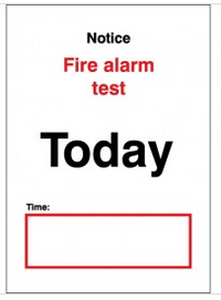 Fire Alarm Test Notice SSW0311