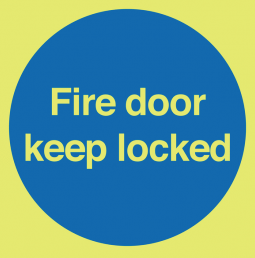 Glow in the Dark Fire Door Keep Shut Sign SSW0303