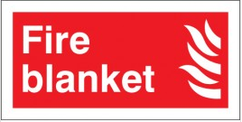 Plastic And Vinyl Fire Blanket Signs SSW0298