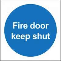 Fire Door Keep Shut Symbol Sign