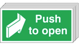 Push To Open Signs - 6 Pack SSW0324