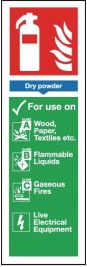 Dry Powder Fire Extinguisher Sign SSW0284
