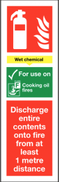 Fire Extinguisher Signs - Wet Chemical SSW0283