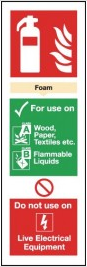 Foam Fire Extinguisher Sign - Colour-Coded SSW0285