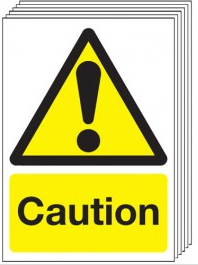 Caution Signs - 6 Pack SSW0051