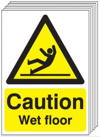 Caution Wet Floor Signs - 6 Pack SW0055