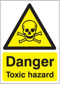 Danger Toxic Hazard Sign SSW0269