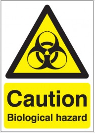 Biological hazard Caution safety signs SW0033