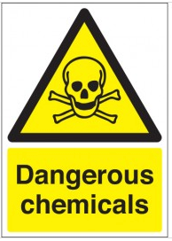 Dangerous chemical hazard signs SSW0218