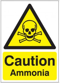 Caution Ammonia Signs SSW0037