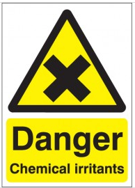 Danger Chemical Irritants Signs SSW0217