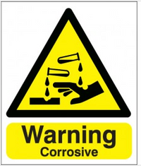 Warning Corrosive Signs SSW0216