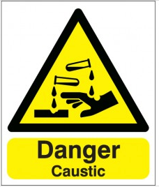 Danger Caustic Signs SSW0215
