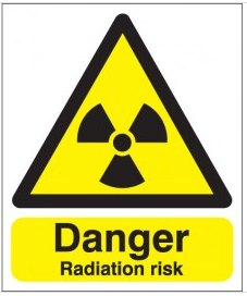 Danger Radiation Risk Signs SSW0214