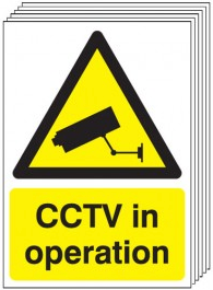 CCTV In Operation Signs - 6 Pack SSW0057