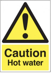 Caution Hot Water Signs SSW0267