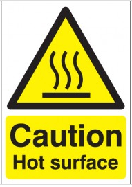 Caution No Hot Surface sign SSW0264