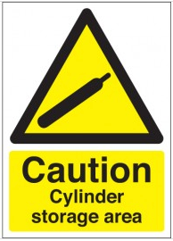 Caution Cylinder Storage Area Signs SSW0043