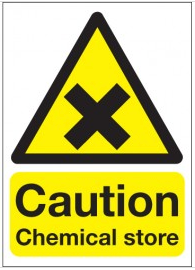 Caution Chemical Store Signs SSW0042