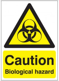 Caution biological hazard safety signs SSW0041
