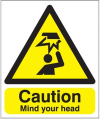 Caution Mind your head sign SSW0262