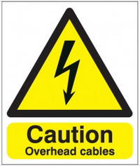 Overhead Cables Caution Signs SSW0261