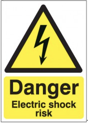 Danger Electric Shock Risk Signs SSW0259