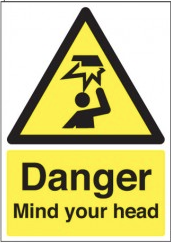Danger Mind Your Head Signs SSW0258