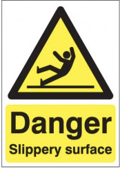 Danger Slippery Surface Signs SSW0256