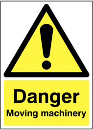 Danger Moving Machinery Warning Sign SSW0255