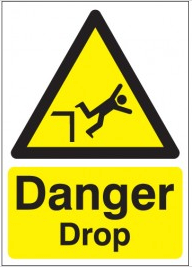 Danger Drop Signs SSW0248