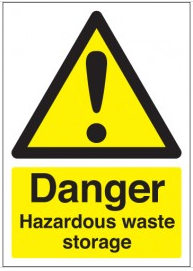 Danger Hazardous Waste Storage Health and Safety Signs SSW0246