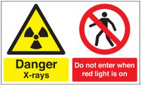 Danger X-rays and Do not enter hazard warning signs SSW0245