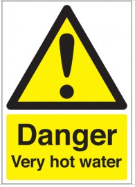 Danger Very Hot Water Signs SSW0242