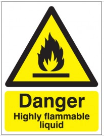 Danger Highly Flammable Liquid SignsSSW0239