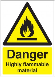 Danger Highly Flammable Material Signs SSW0238