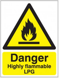 Danger Highly Flammable Lpg Signs SSW0237