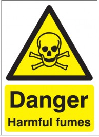 Danger harmful fumes hazard signs SSW0236