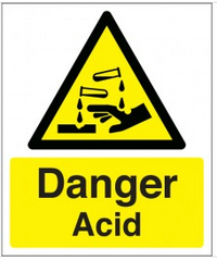 Danger Acid Signs SSW0235