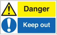 Danger keep out signs SSW0232