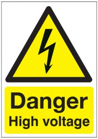 Danger High Voltage Signs SSW0231