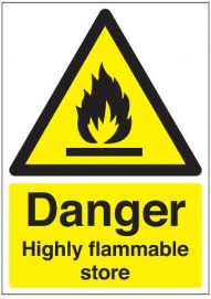 Danger Highly Flammable Store Signs SSW0227